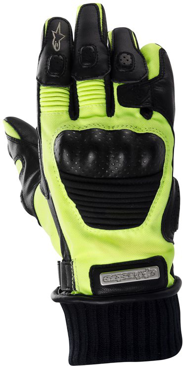 Alpinestars Arctic Drystar textile-leather gloves black-yellow f