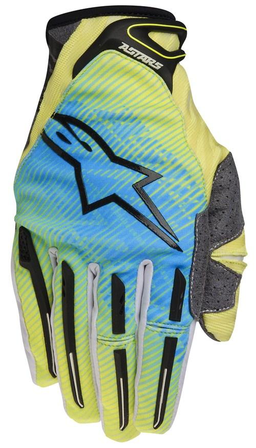 Cross Gloves Alpinestars Charger Green Blue
