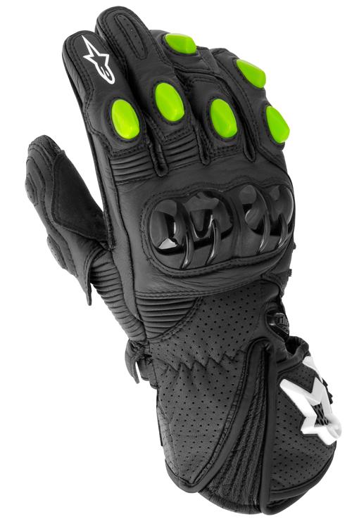 Guanti moto pelle Alpinestars GP-M Monster nero-verdi