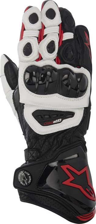 Alpinestars GP Pro leather gloves Black White Red