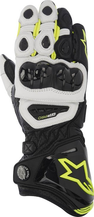 Alpinestars GP Pro leather gloves Black White Yellow