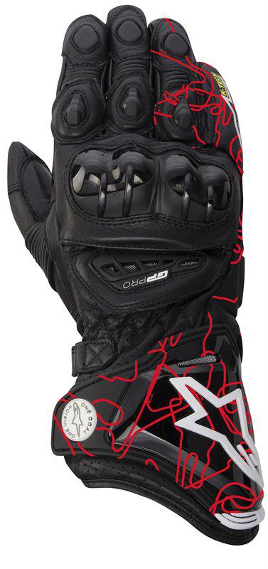 Alpinestars GP PRO gloves black-red tracks