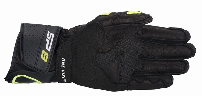 Alpinestars SP-8 gloves black tellow fluo