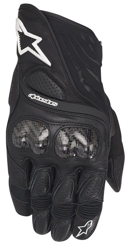 Leather Motorcycle Gloves Alpinestars SP-5 Black