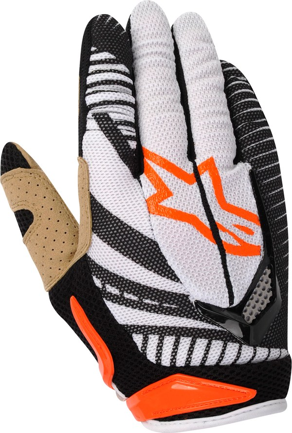 Alpinestars Techstar off-road gloves orange-black