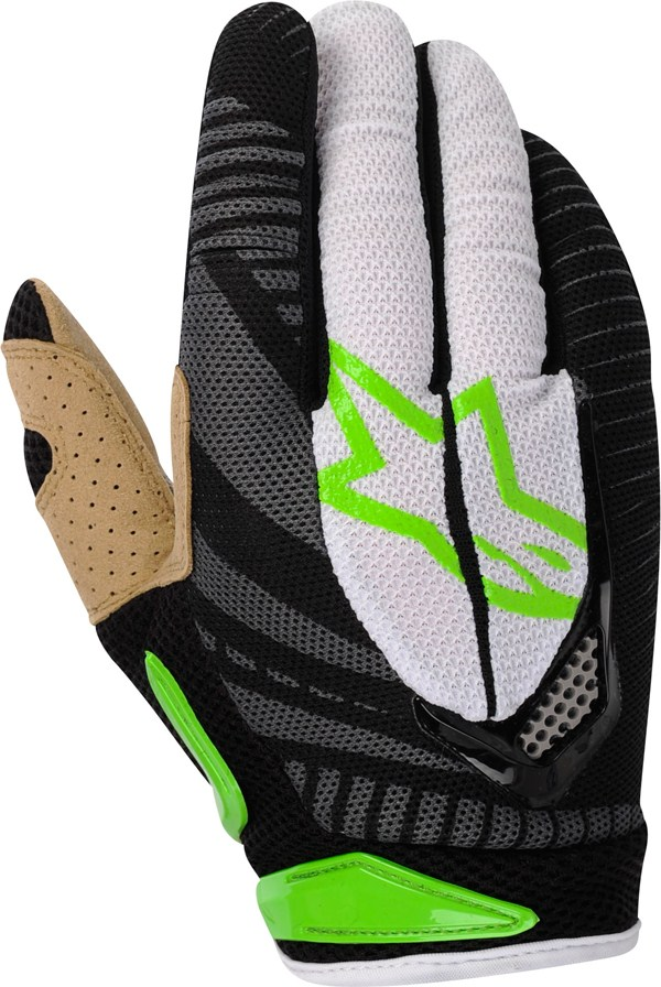 Guanti cross Alpinestars Techstar verde-nero