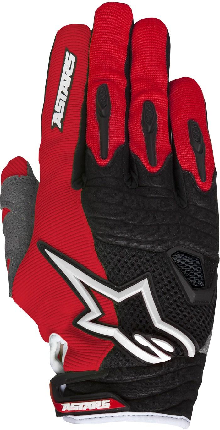 Alpinestars Techstar cross gloves Red White