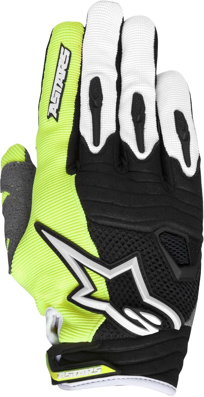 Alpinestars Techstar cross gloves Yellow Red Black