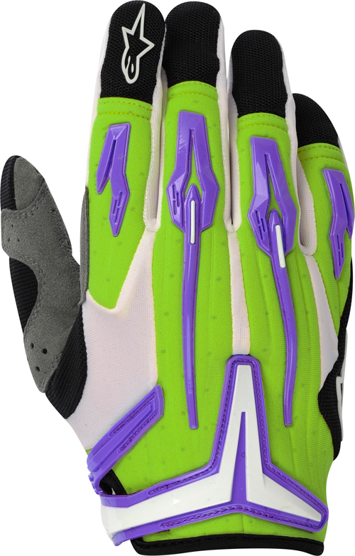 Guanti cross Alpinestars Charger verde-viola-nero