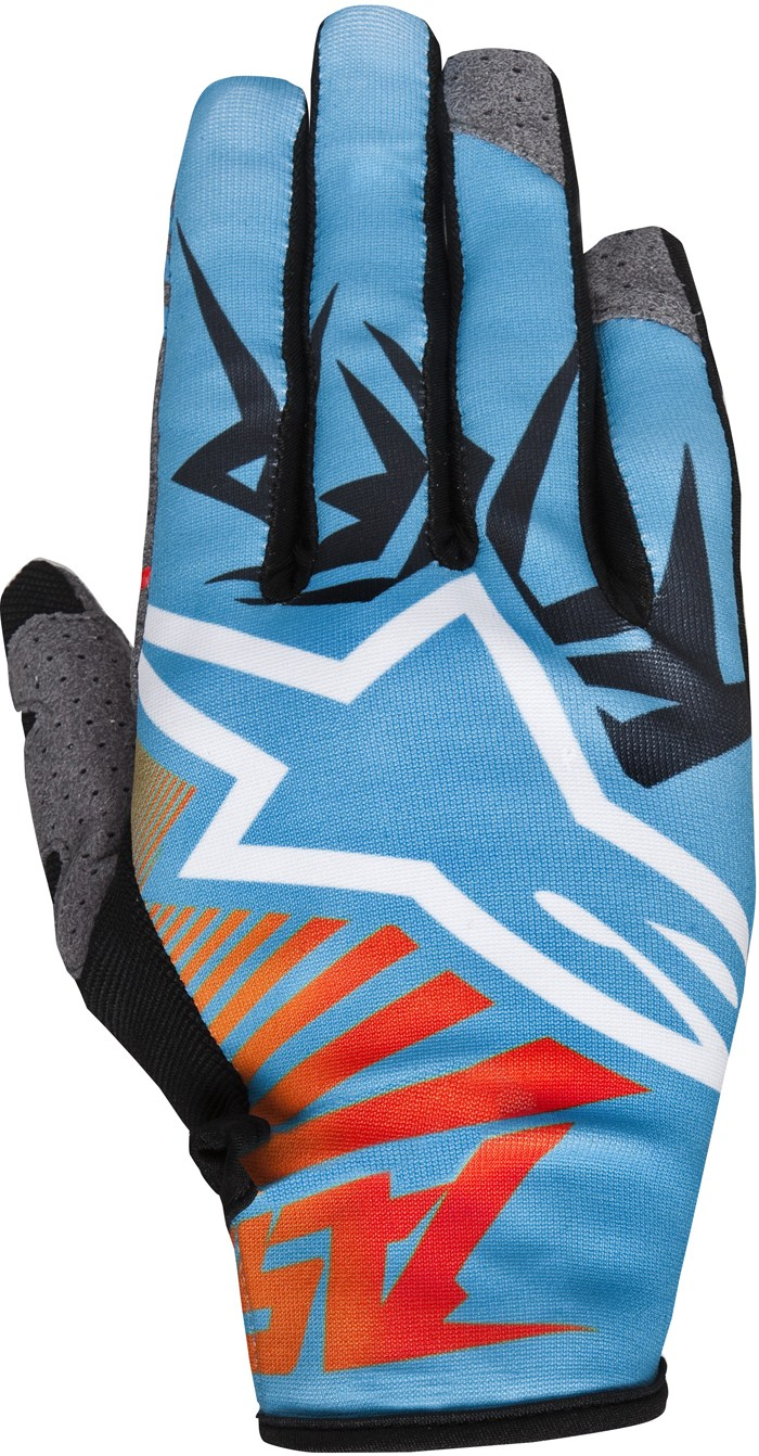 Alpinestars Racer Braap cross gloves Blue Orange Red