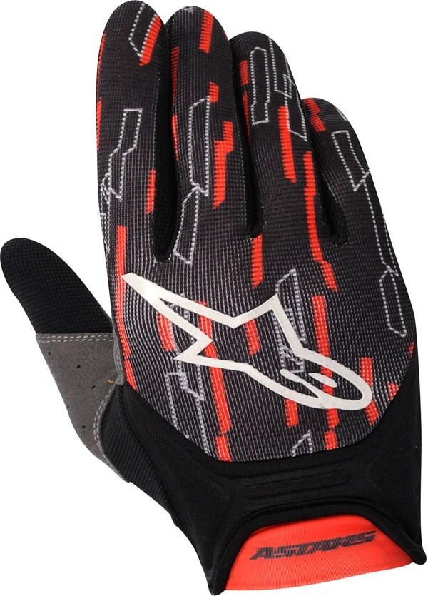 Guanti cross Alpinestars Racer rosso-nero