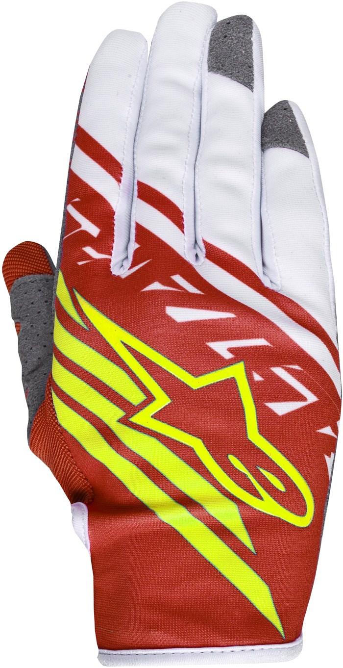 Alpinestars Racer Supermatic cross gloves Red Yellow White