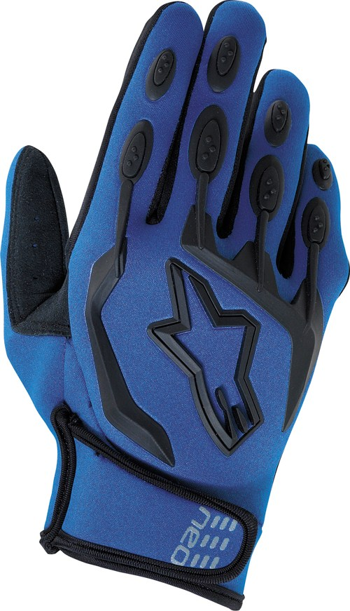 Alpinestars Neo Moto off-road gloves blue