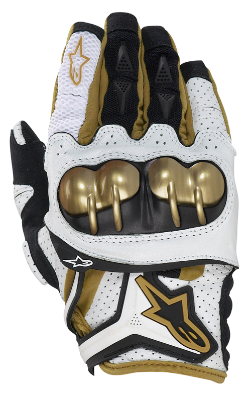 Alpinestars Atlas off-road gloves white-gold