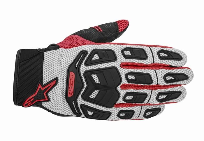 Alpinestars Atacama Air motorcycle gloves grey red