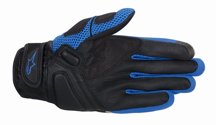 Alpinestars Atacama Air motorcycle gloves grey blue