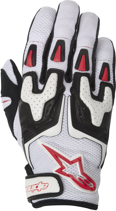 Guanti moto estivi Alpinestars SMX-3 Air bianco-nero-rosso