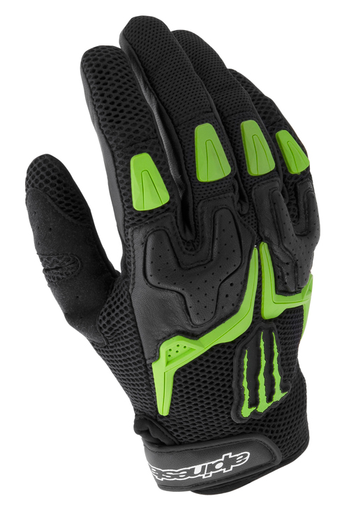 Guanti moto Alpinestars M20 Air Monster Collection nero-verde