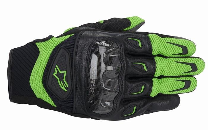 Guanti moto Alpinestars SMX-2 Air Carbon verde nero