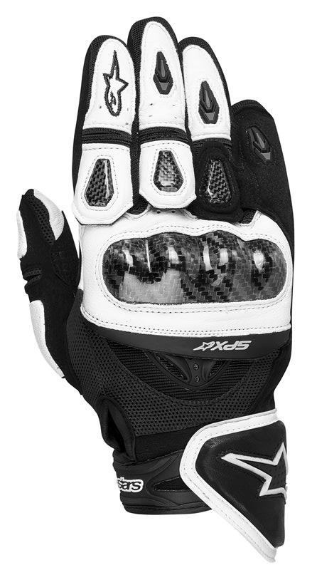 Guanti moto pelle Alpinestars SP-X bianco nero 3567912