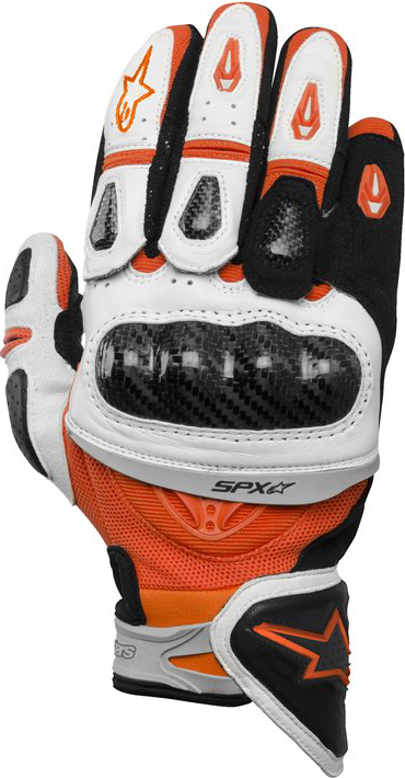 Alpinestars SP-X leather gloves orange white black