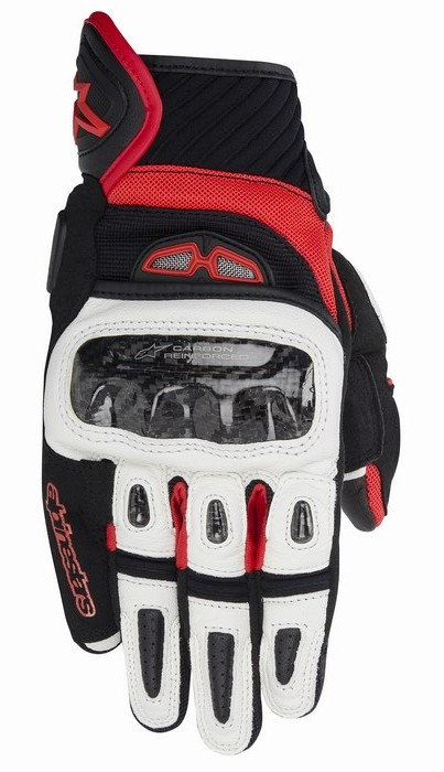 Alpinestars GP-Air leather gloves Black White Red