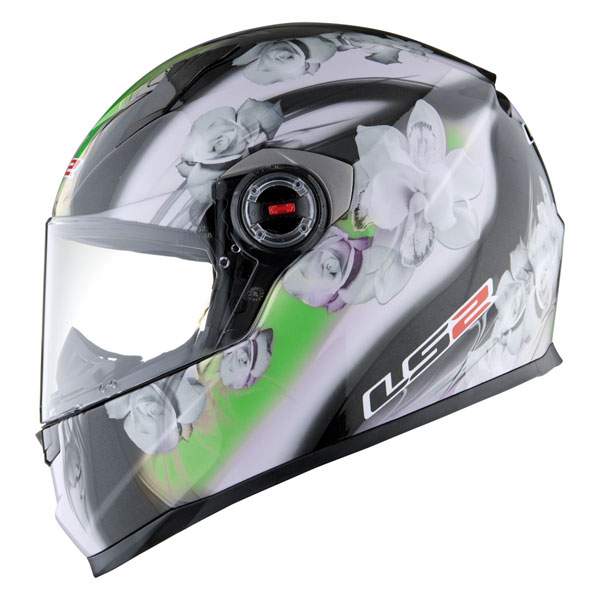 Casco integrale LS2 FF358 Chic nero verde
