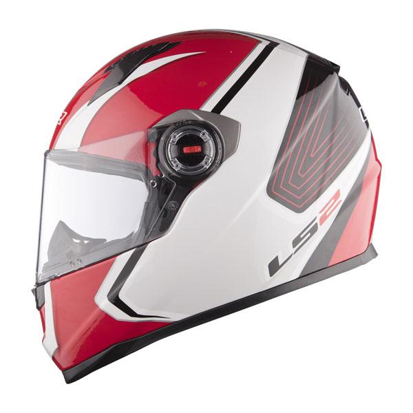 Casco integrale LS2 FF358 Corsa bianco rosso