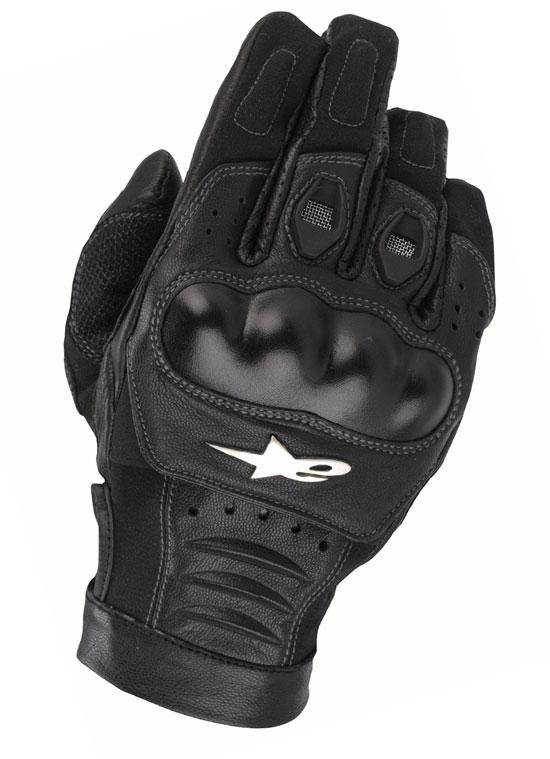 ALPINESTARS Alloy leather gloves col. black