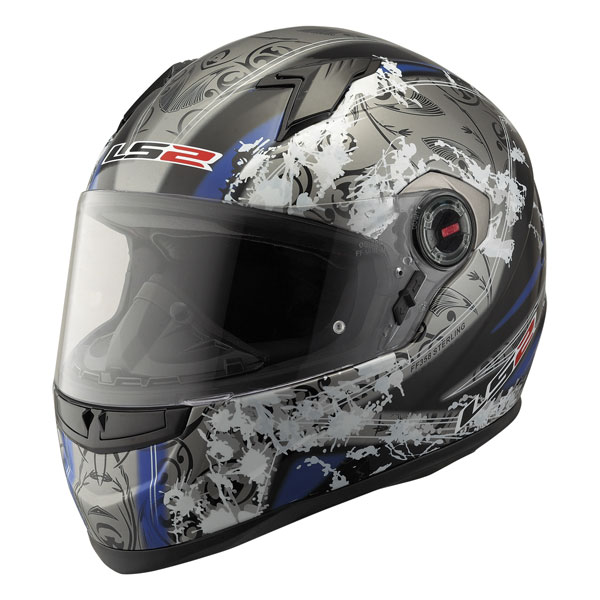 Casco integrale LS2 FF358 Sterling nero blu