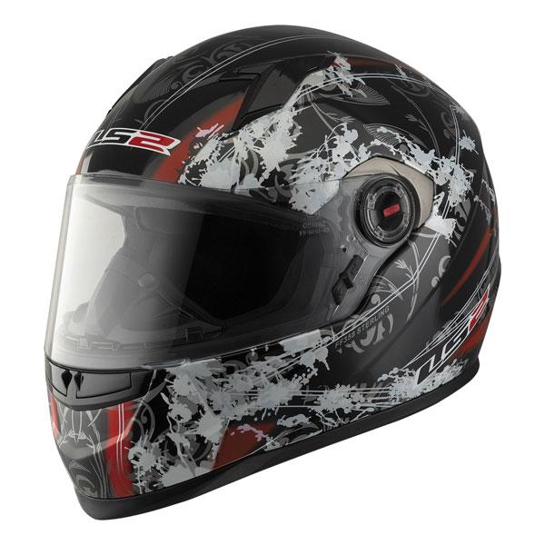 Full face helmet LS2 FF358 Sterling black red