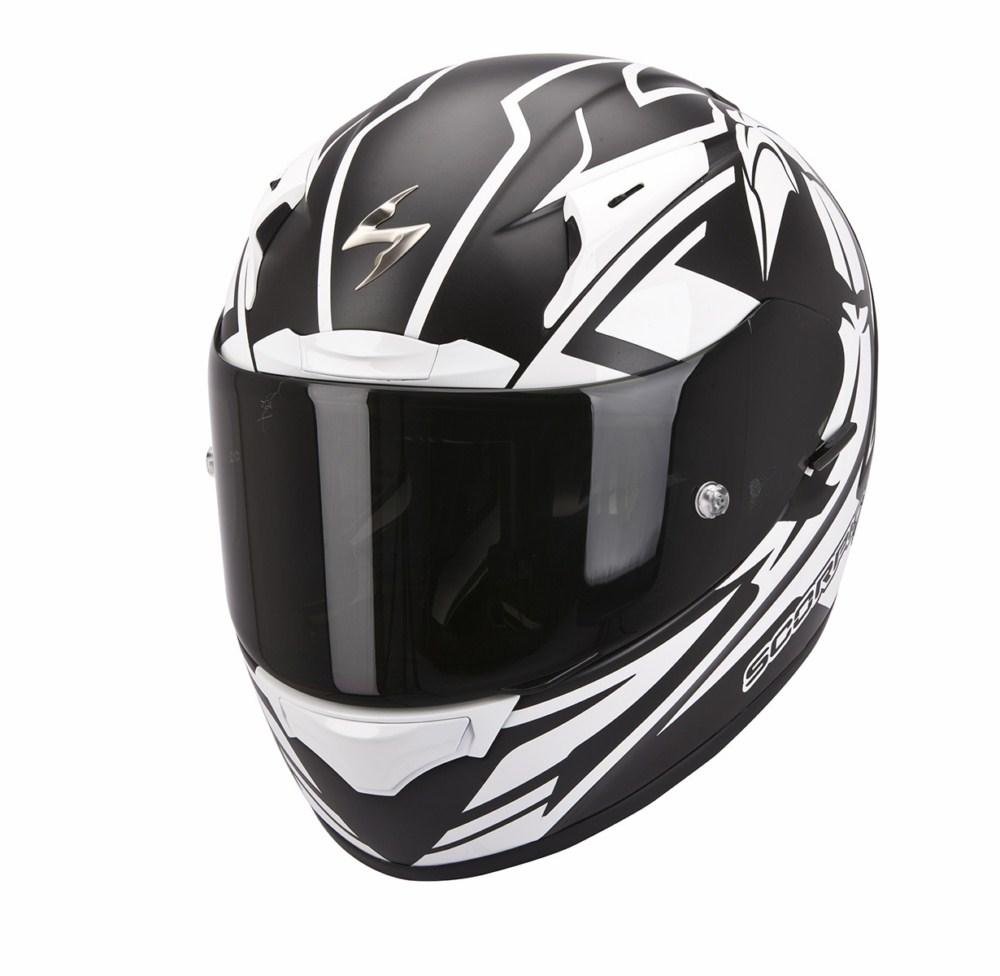 Scorpion Exo 2000 Evo Air Track full face helmet black white