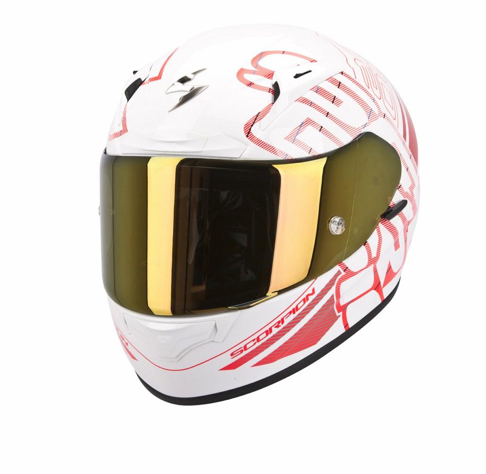 Scorpion Exo 2000 Evo Air Ipsum full face helmet white red