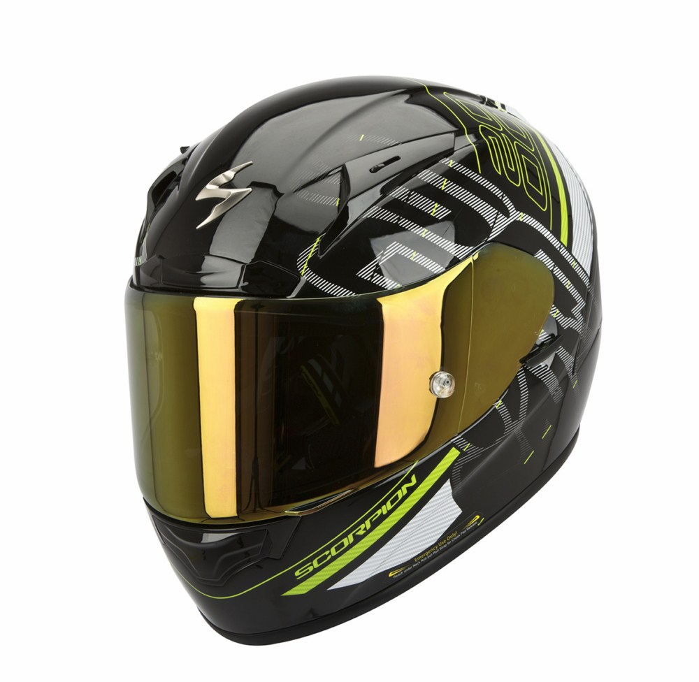 Scorpion Exo 2000 Evo Air Ipsum full face helmet black green