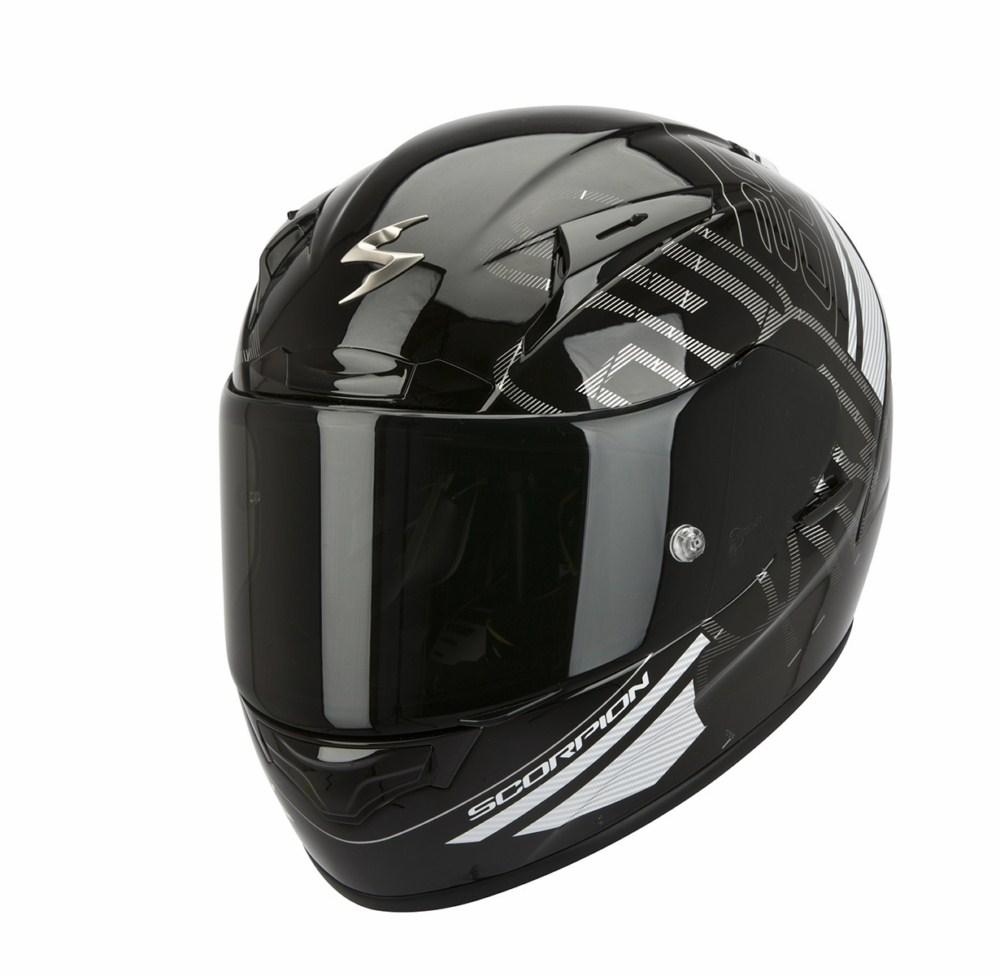 Scorpion Exo 2000 Evo Air Ipsum full face helmet black white