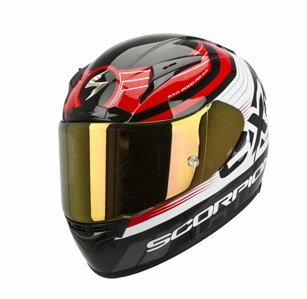 Scorpion Exo 2000 Evo Air Fortis full face helmet black red