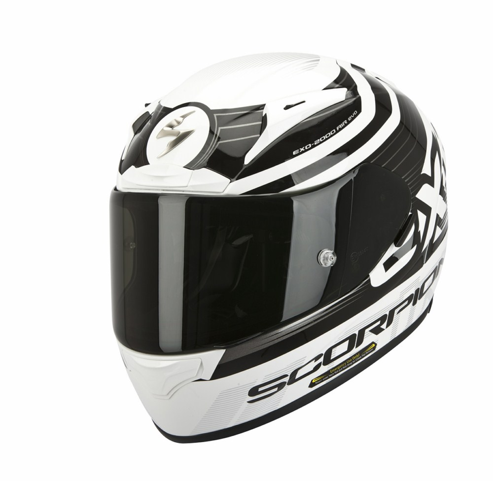 Scorpion Exo 2000 Evo Air Fortis full face helmet black white