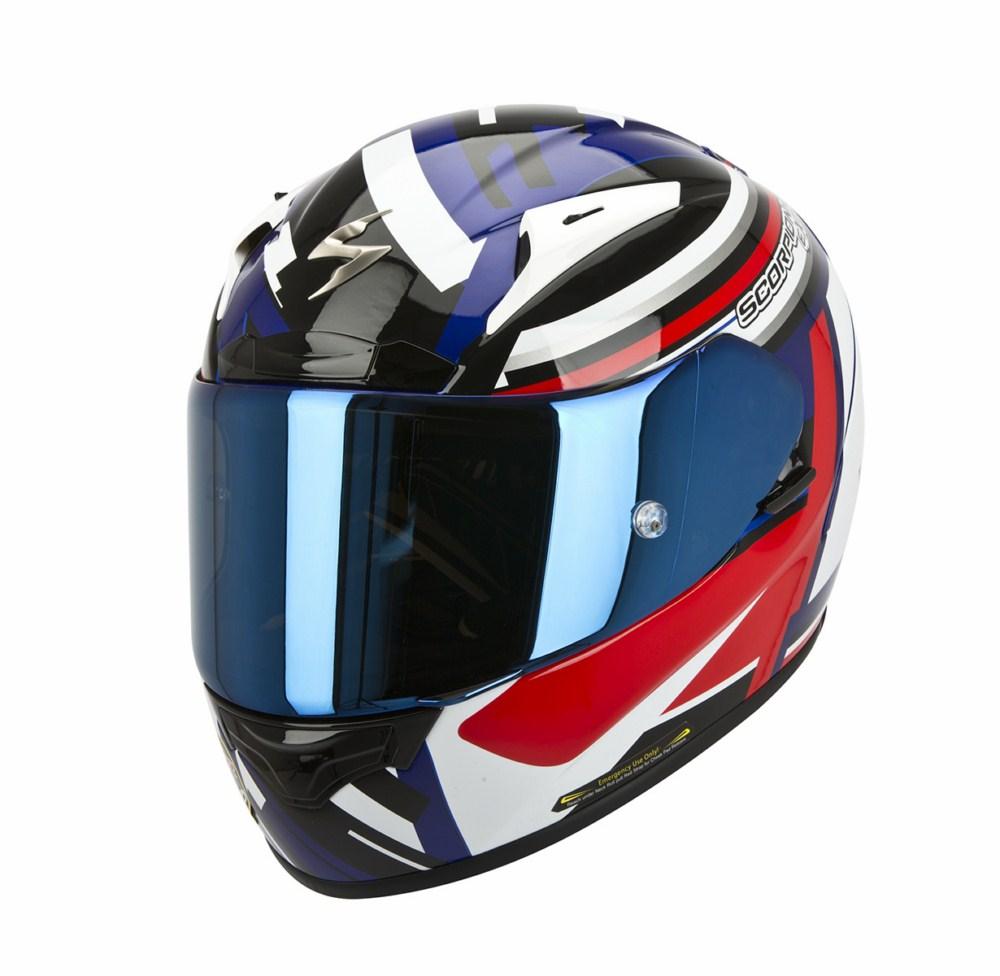 Scorpion Exo 2000 Evo Air Avenger full face helmet blue red