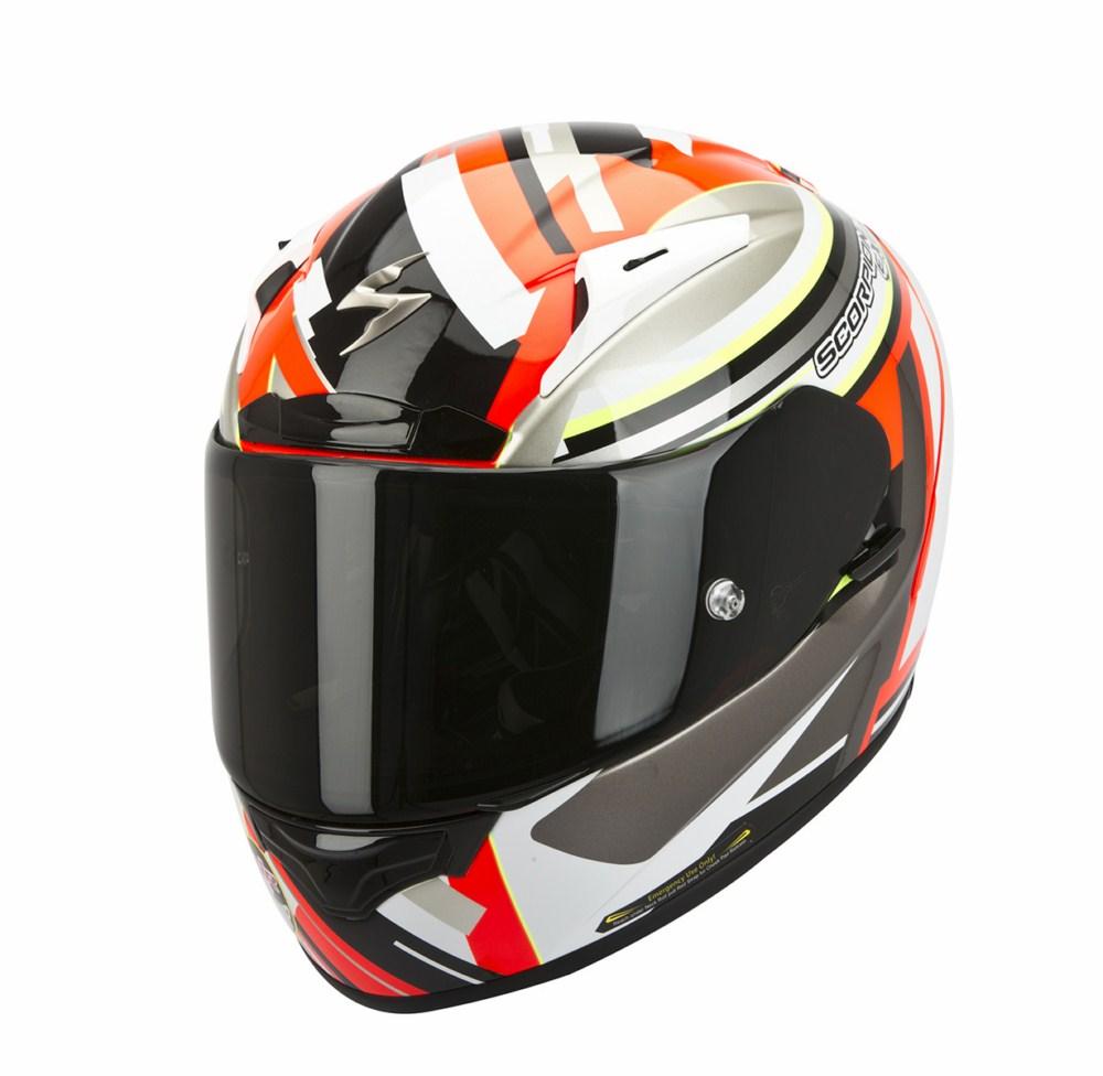 Scorpion Exo 2000 Evo Air Avenger full face helmet red white