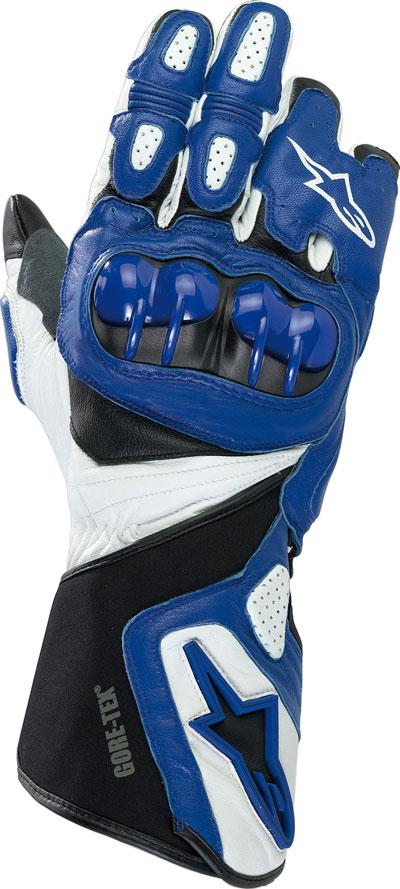Guanti moto pelle Alpinestars 365 Gore-Tex blu