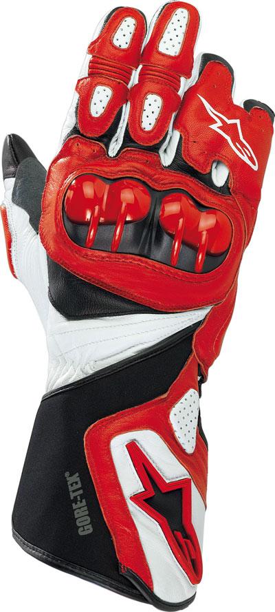 Guanti moto pelle Alpinestars 365 Gore-Tex rossi