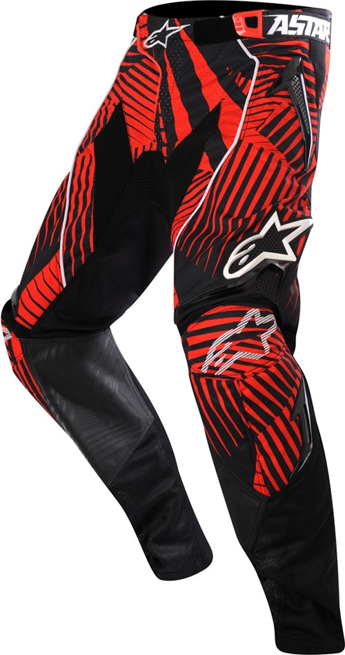 Pantaloni cross Alpinestars Techstar grigio-rosso-nero