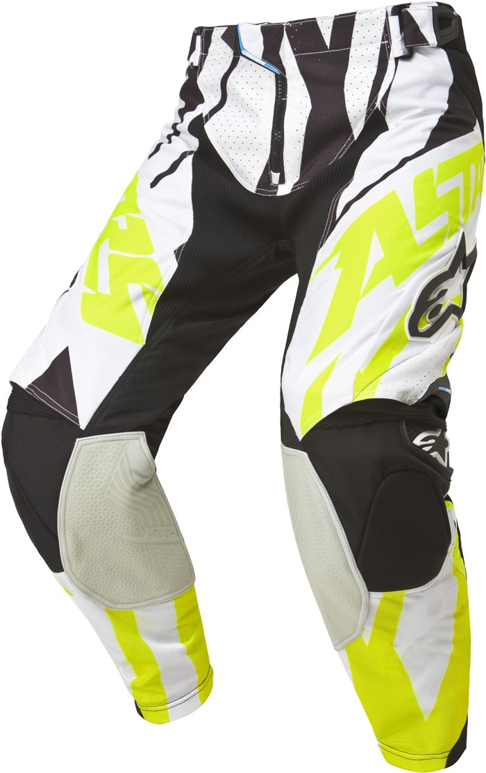 Alpinestars Techstar cross pants Black White Yellow