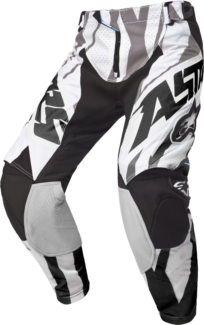 Pantaloni cross Alpinestars Techstar Nero Bianco Grigio