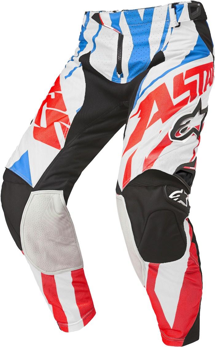 Pantaloni cross Alpinestars Techstar Rosso Blu Bianco
