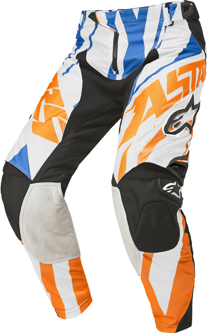 Alpinestars Techstar cross pants Orange White Blue