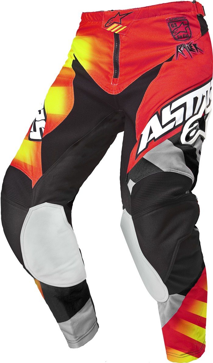 Alpinestars Racer Braap cross pants Red Black Yellow