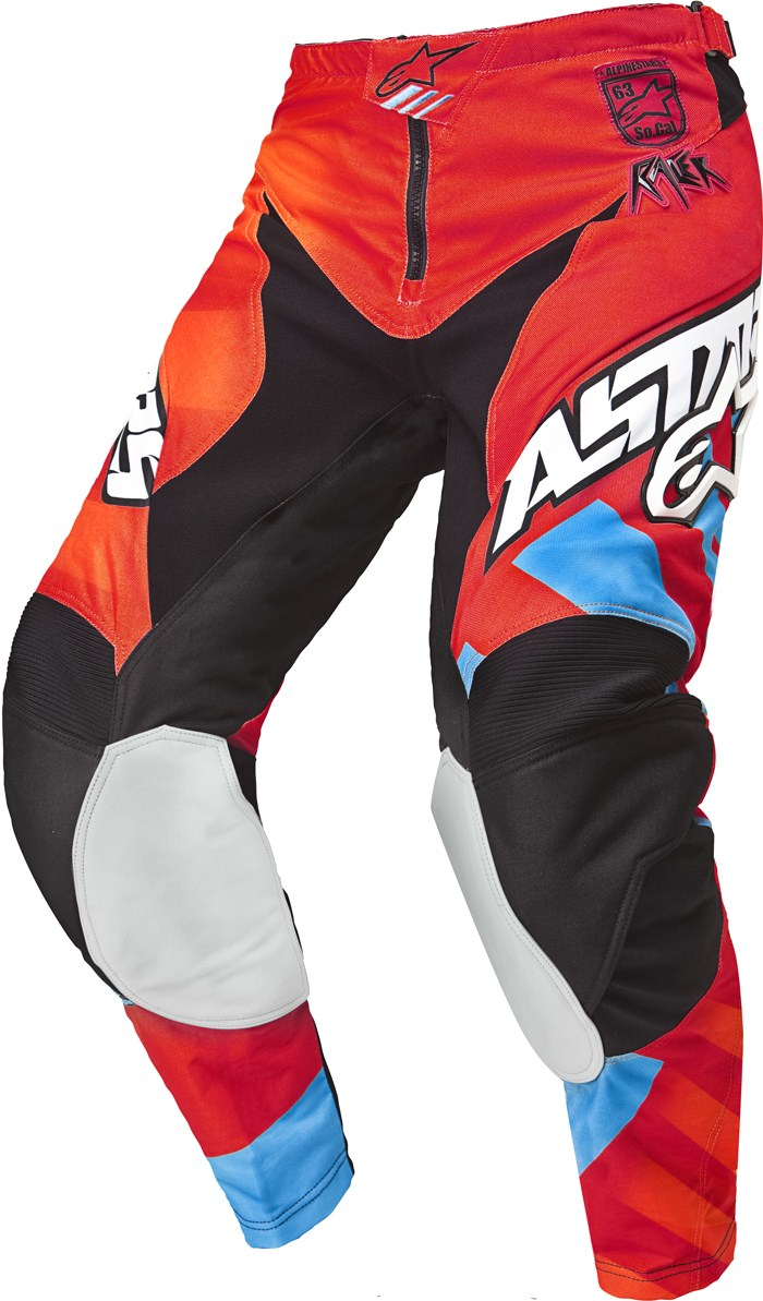 Alpinestars Racer Braap cross pants Red Orange Blue