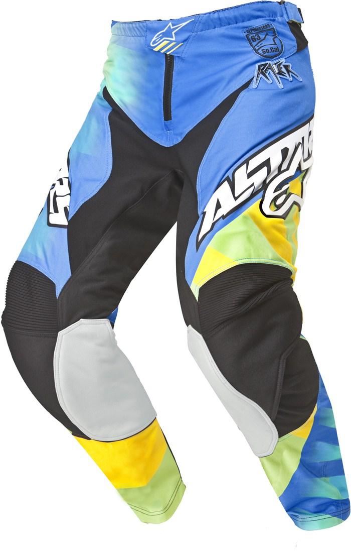 Alpinestars Racer Braap cross pants Yellow Blue Lime