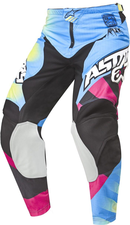 Alpinestars Racer Braap cross pants Yellow Blue Magenta